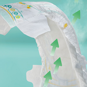 Couches Pampers Active Baby Dry sont micro-aérées