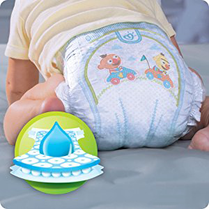 Couches Pampers Baby Dry ont 3 couches d'absorption