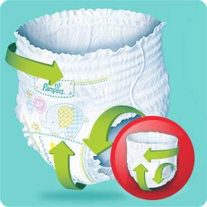 couches pampers baby dry pants ont un ajustement optimal