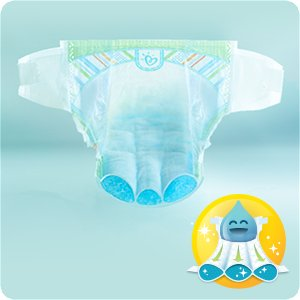 Couches Pampers New Baby avec Magical Pods