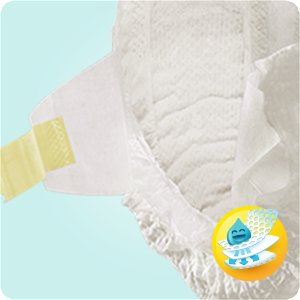 Couches Pampers New Baby contiennent un voile absorbant
